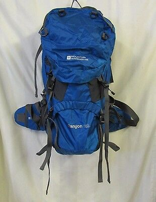 Mountain Warehouse Hiking Backpack Bag 26 x 14 x 10 Blue Walking 65L LMS Canyon