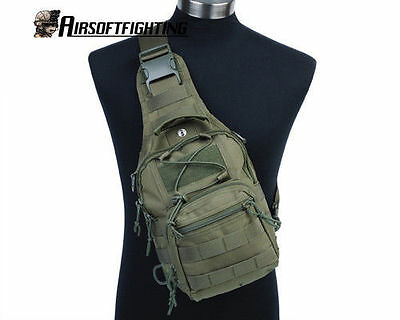 1000D Molle Tactical Utility 3 Ways Should Sling Pouch Backpack Olive Drab A