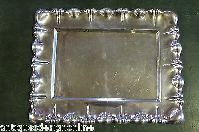 Antique Imperial Austrian solid silver hallmarked SERVING TRAY dish SALVER plate