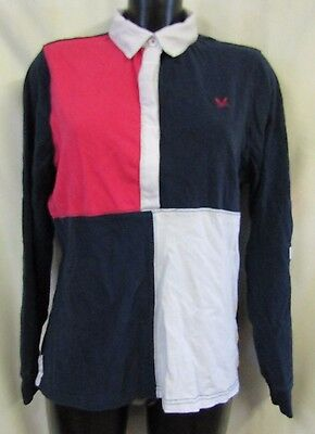 Crew Clothing Co GBR 93 Polo Jumper Sz 16 Red Blue Sport Great Britain 1993 VGC