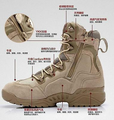 US Men's Desert boots Military outdoor shoes Special forces Tactical boots shoes