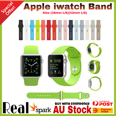 Sports Silicone Band Bracelet Strap Band For Apple Watch Series 3 2 1 38mm 42MM