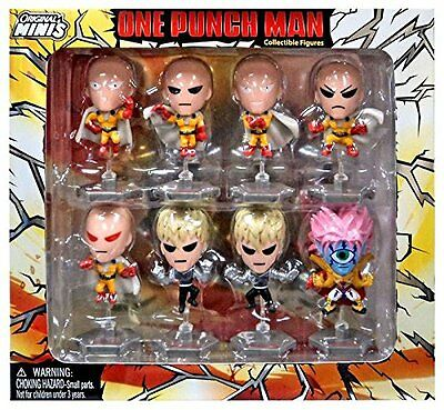 One Punch Man Saitama Exclusive Mini Figure Box Set of 8 FREE SHIP