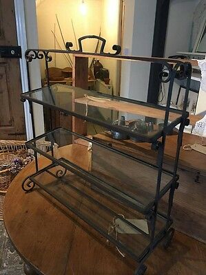 Beautiful French Antique Vintage Patisserie Shop Display Shelf Stand Counter