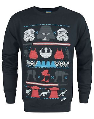 Official Star Wars Dark Side Fair Isle Christmas Men's Sweater