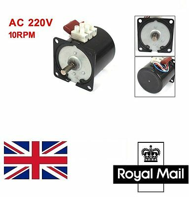 UK Ship New 60KTYZ Permanent Magnetic Synchronous motor 220 - 240V 14w 10RPM