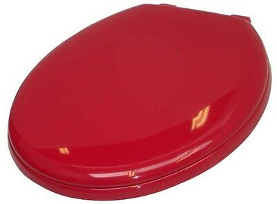 Toilet Seat Blue Or Red Dementia Alzheimers standard Anti-Vandal With Fixed Lid