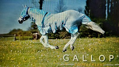 "Gallop All In One Fly Rug - All Sizes 4'6"" To 7'0"" - Includes Fly Mask"