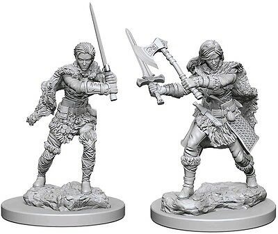 Human Female Barbarian Dungeons & Dragons Pathfinder Primed Unpainted 25Mm Minis