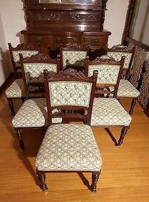 Antique Solid Oak Dining Chairs