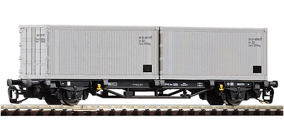 PIKO ,TT, Container Wagon 2x20' Dr, 47721, Epoch IV, NEW