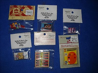 Miniature accessories:  several games and toys, 1:12 scale, NIB, lot #3