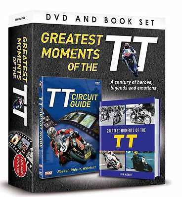 "TT's GREATEST MOMENTS DVD/HARDBACKBOOK GIFT SET. ""FREE"" UK TRACKED DELIVERY"