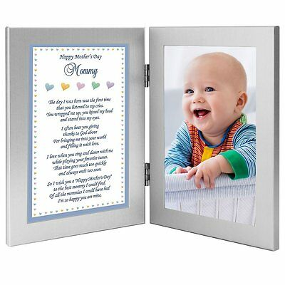 Mothers Day Gift Idea for Mom Baby Boy Frame for Mommy from Son - Add Photo new