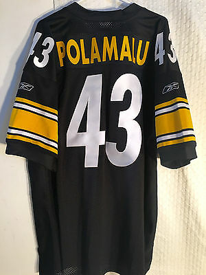 NFL Troy Polamalu Pittsburgh Steelers Authentic American Football Shirt Jersey