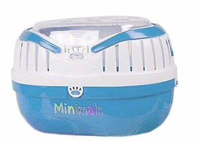 Minimals Small Animal Guinea Pig Chinchilla Holiday Travel Vet Carrier Blue