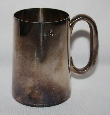 Antique Victorian Pewter Half Pint Tankard