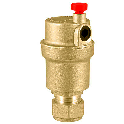 Inta Brass 15mm Automatic Auto Bottle Air Vent AAV07911500B for central heating