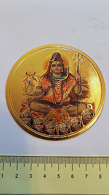 Lord Shiva  - Hindu Diety - gold foiled sticker - New - Free Post