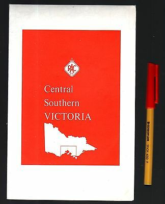 Australian Road Map RACV Central Southern VICTORIA 16 panel Map
