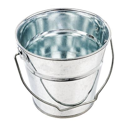 Round Galvanised Steel Bucket Serving Food Display Presentation Tableware