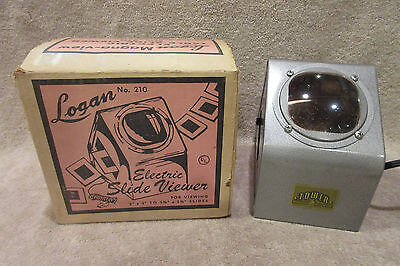 Vintage Logan Magna View Magnaview Electric Slide Viewer w/ Original Box -TESTED