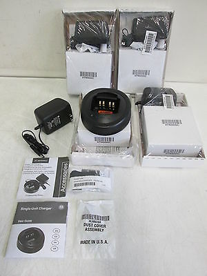 Motorola HT Series Accessory Kit HKLN4226A Rapid Charger for 750 1250 Lot 4 NEW