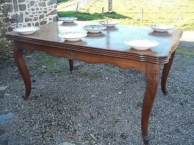 Quality Oak   French Extending Louis Xv Provincial Style Dining Table