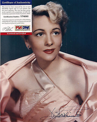 Joan Fontaine Signed 8x10 Color Photo-PSA/DNA COA-Actress-Academy Award-Movies