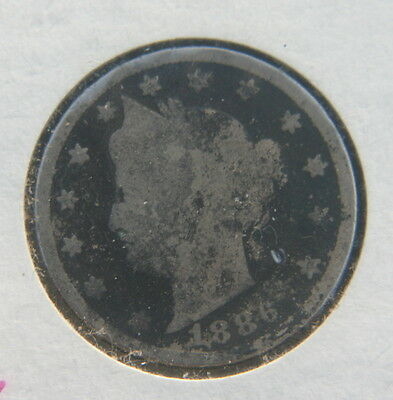 1886 Liberty V Nickel Key Date Type Liberty Head 5c