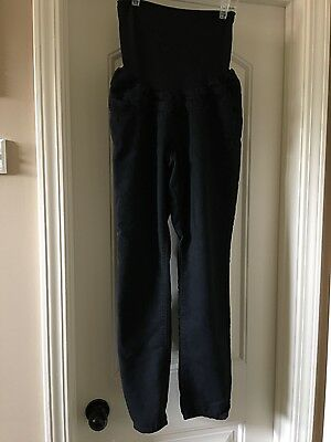 Womens First Kick Black Skinny Ankle Maternity Pants Size Medium