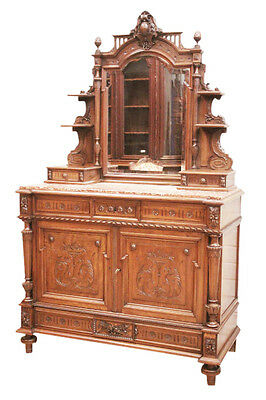 Nice quality Louis XVI dresser with marble top and mirror. Walnut,19th century