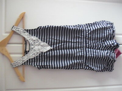 Fab Girls Stripe Playsuit From H And M, Age 9 / 10