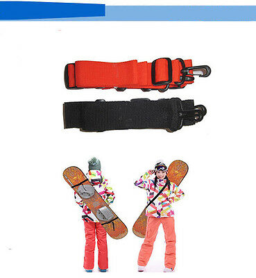 Unisex Adjustable Ski Carrier ShoulderCarry Strap Belt Clip  Sling  For Skiboard