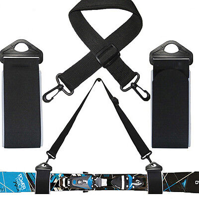 Unisex Adjustable Ski Carrier Ski Shoulder Sling for Skiboard Carry Strap Belt