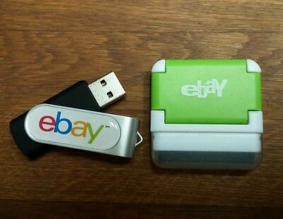 Official ebay Branded 8GB Rotate Flash Drive & Screen Cleaner/Media Device Stand