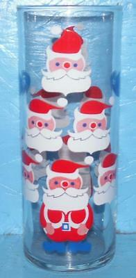 Roses Advertising Glass with Santa's All Around Glass