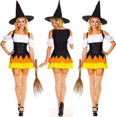 2016 New Halloween Cosplay Girls Costume Fancy Dress Outfit Onesie Hat