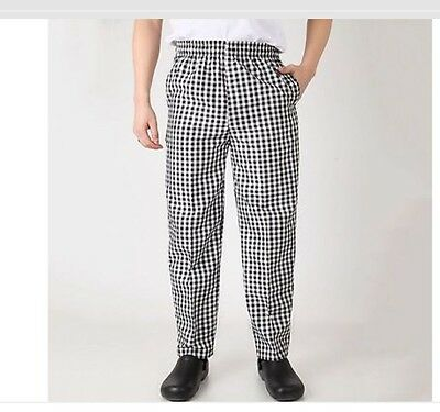 NEW Chef Works checkered Pants Size XL