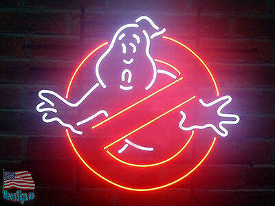 "Larger Ghostbusters No Ghosts Pub Bar Game Room Neon Sign 20""x16"" From USA"