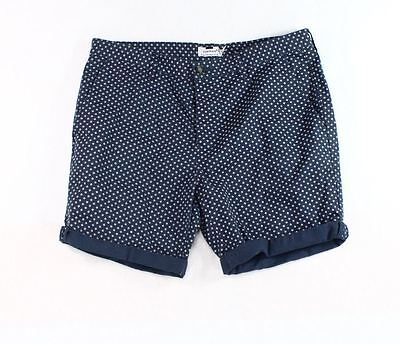 Topman NEW Blue Mens Size 36 Button Front Printed Cuffed Casual Shorts $55 792