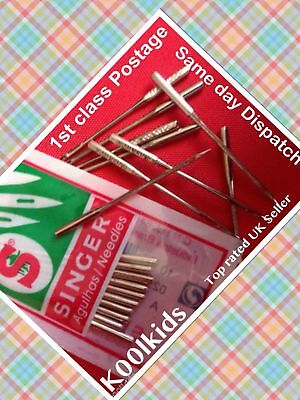 Domestic Singer Sewing Machine Needles For New, Vintage & Domestic Machines, New