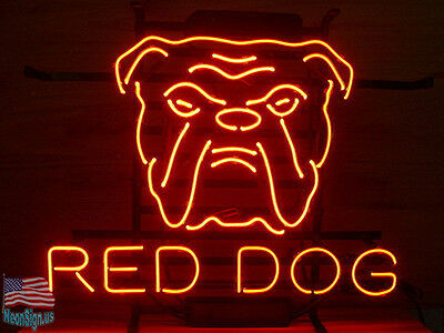 "Red Dog Beer Lager Pub Bar Neon Sign 17""x14"" From USA"