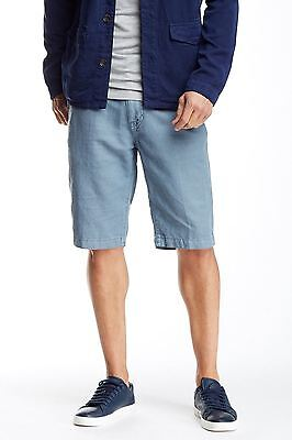 Union NEW Blue Mens Size 34 Four Pocket Button Front Casual Shorts $60 796