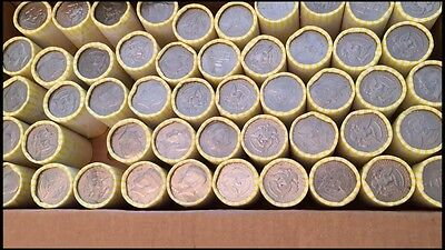One UNSEARCHED BANK SEALED HALF DOLLAR ROLLS POSSIBLE 40% 90% KENNEDY FRANKLIN