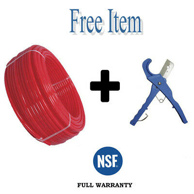 """1"""" x 100ft Pex Pipe Tubing Pex-B For Potable Water Non-Barrier RED + 1 FREE ITEM"""
