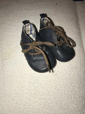 Baby Boy Toddler Size 2 6-12 Month Real Leather Soft Sole Shoes Next