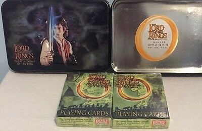 Lord of the Rings Fellowship Limited Edition Playing Cards & Tin 2001  NEW Cards