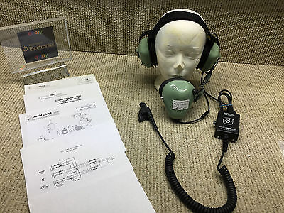 David Clark H7020 P/n 12521G-01~Headset Noise Shielded Used With C7053