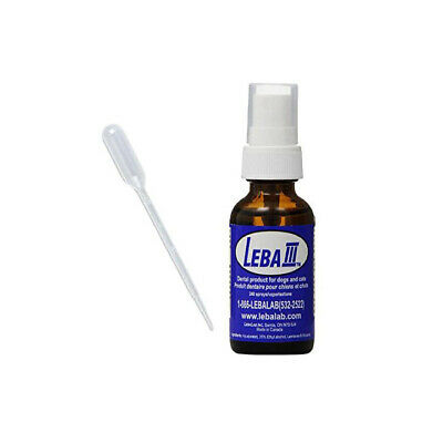 Leba III Pet Dental Spray For Dogs and Cats 1oz Bottle